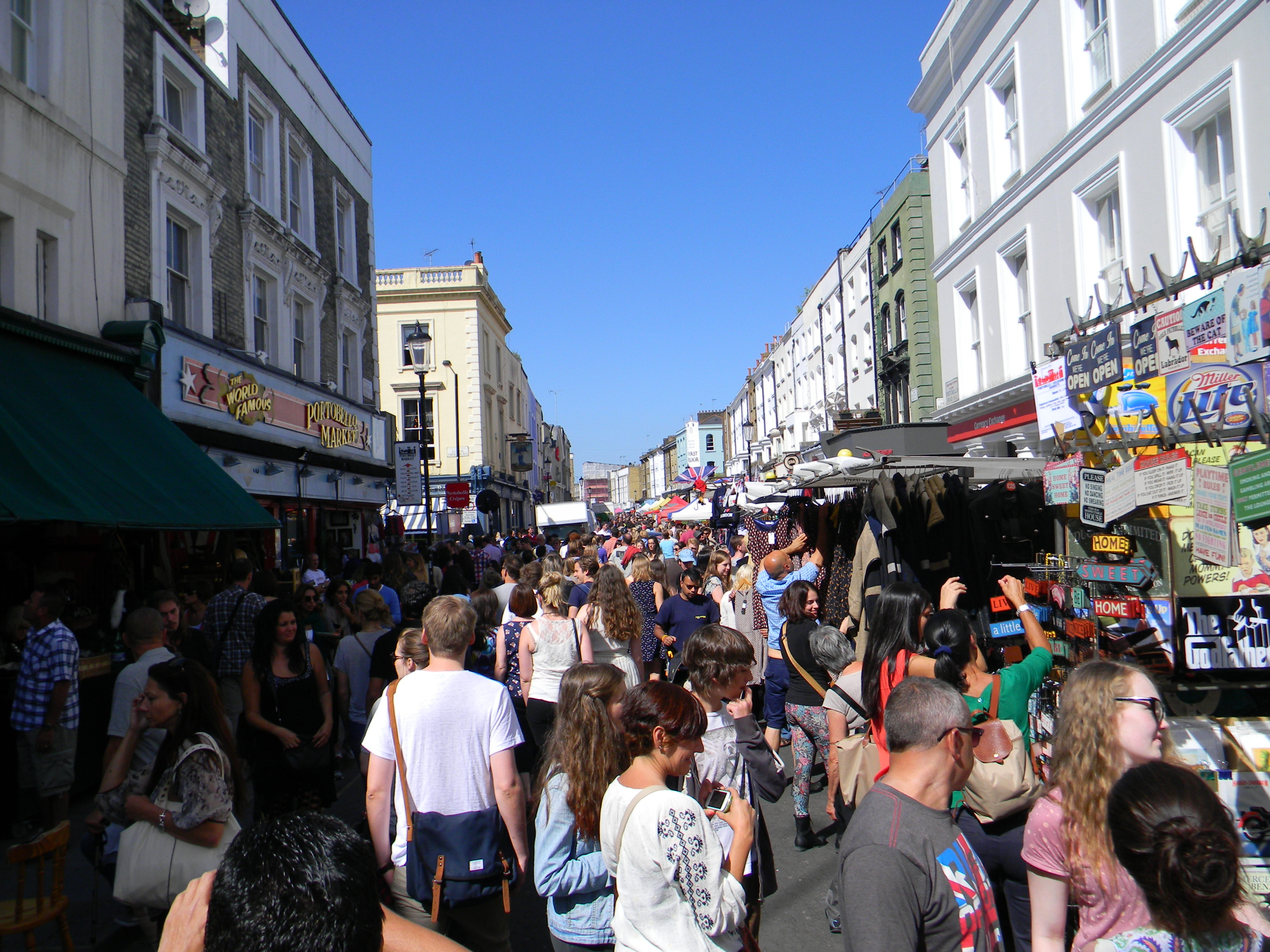Portobello Rd. Market – Notting Hill, London – You have got to go here…